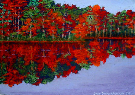 painting Autumn Reflection