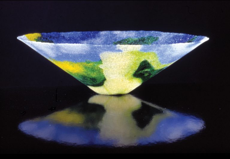 sculpted glass bowl