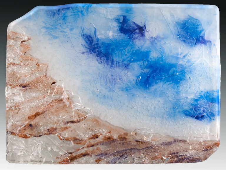Painted glass panel of Yellowstone