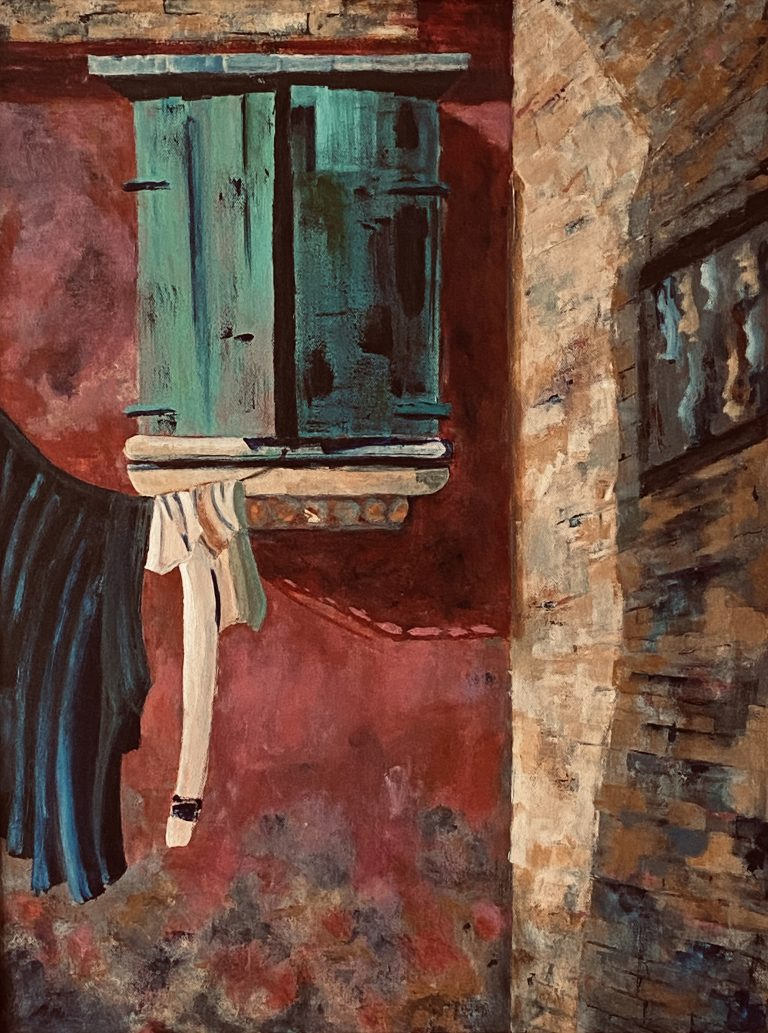 Hanging In Venice painting