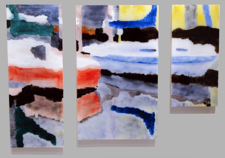 painted glass panels Harbor Impressions