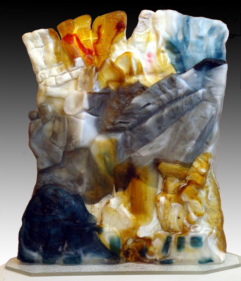 Glass sculpture In the Presence of the Ancients