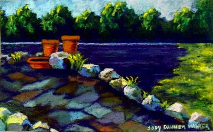 Painting Irish Bridge Jody Danner Walker