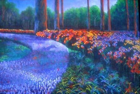 Kukenhoff Garden painting