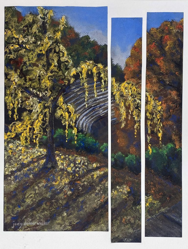 Spring Amphitheater painting