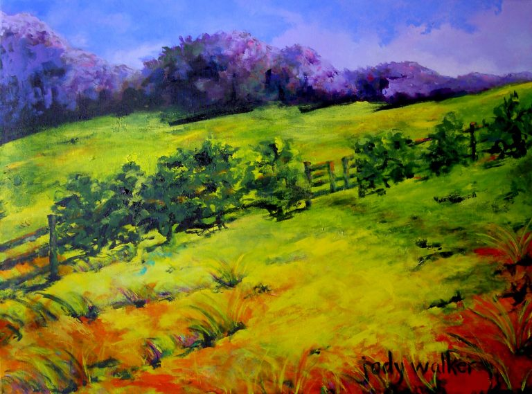Walking through the Field painting